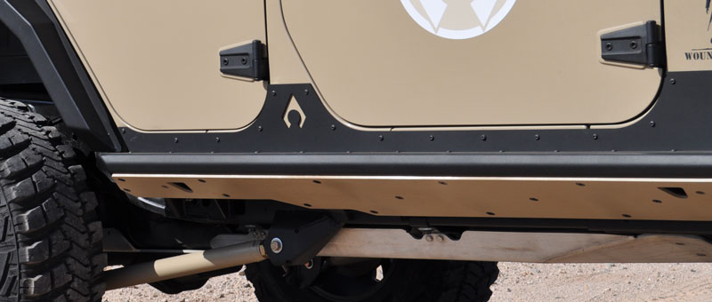 Artec Industries Nighthawk JK Sliders (JKU - 4 Door)