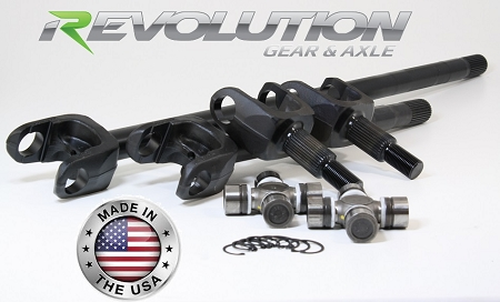 Revolution Gear & Axle 87-95 YJ, MJ and XJ US Made Front Axle Kit 30 Spline with Disconnect Eliminator - USES JEEP JK U-JOINT