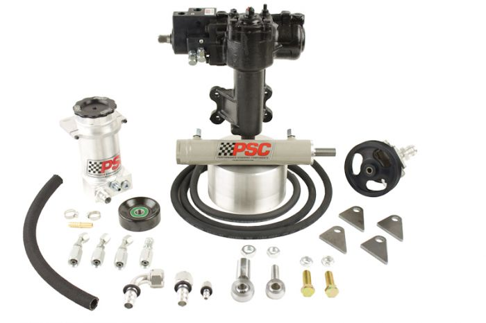 PSC Motorsports 07-11 Jeep 4DR JK 3.8LOEM Cylinder Assist Steering Kit with Aftermarket D60 Axle