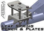 Artec Industries Leaf Spring Perch & Plates (pair)