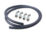 PSC Motorsports Cylinder Assist Hose Kit with 4X 90° Fittings, 6 FT #6 HP Hose