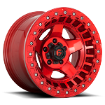 Fuel Off-Road Warp Beadlock Wheel - 17x9 - Candy Red