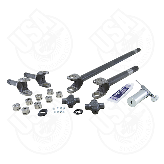 USA Standard 4340 Chrome-Moly Axle Kit, Jeep TJ/XJ/YJ/WJ/ZJ, Dana 30, 27 Spline, With Yukon Super Joints