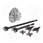 USA Standard 4340 Chrome-Moly Axle & Zip Locker Kit, Jeep TJ/XJ/YJ/WJ/ZJ, Dana 30, 30 Spline, With Yukon Super Joints
